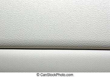 White leather background. Modern japanese car interior...