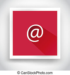 Icon of email for web and mobile applications. Flat design...