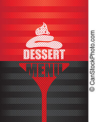 dessert menu background