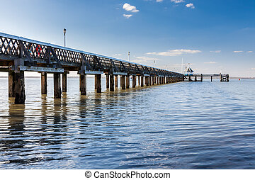 Yarmouth on the Isle Of Wight England - Pier at Yarmouth on...