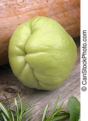 Chayote (Sechium edule) - The chayote (Sechium edule) is a...