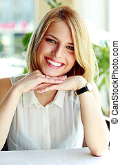 Portrait of a attractive smiling woman