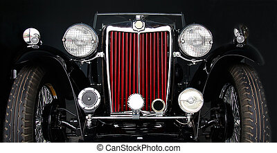British Oldtimer - the front of an oldtimer MG T series...