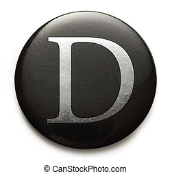 Latin letter D - Single capital latin letter D