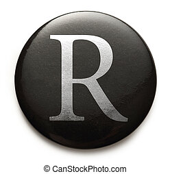 Latin letter R - Single capital latin letter R
