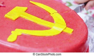 CakeDivision with a hammer and sickle - Themed cake with...