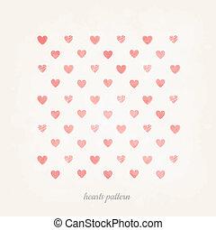 Stylish modern art heart pattern ba