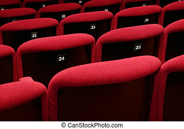 empty movie theatre - empty theater auditorium cinema or...