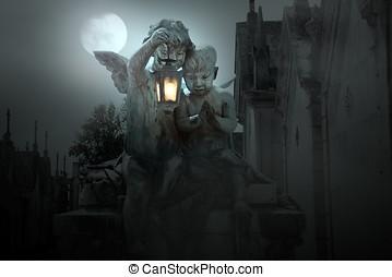 cemitério, anjos