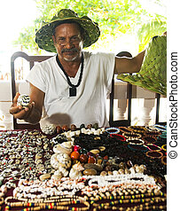 Nicaraguan jewelry artist selling necklaces bracelets...