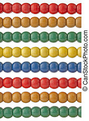 Traditional abacus with colorful wooden beads