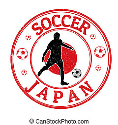 Japan soccer stamp