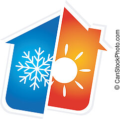 symbol of air conditioning - design for home air...