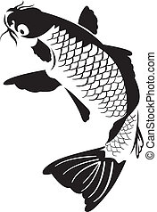 Japanese koi fish - Vector of a carp fish