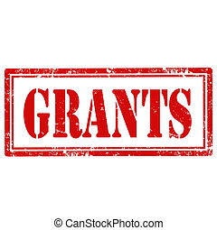 Grants-stamp - Grunge rubber stamp with text Grants,vector...