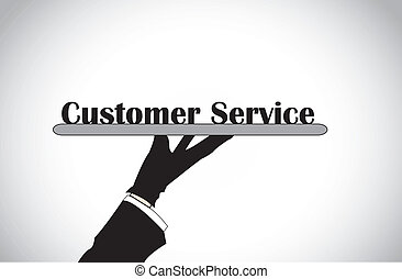 hand presenting customer service - Profesional hand...