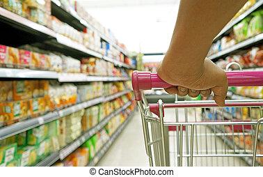 人物面部影像逼真, 手, 購物, 車, 超級市場