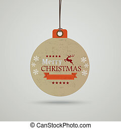 Christmas Bauble Price Sticker - Infographic with price...