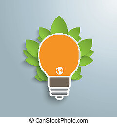Bulb Infographic Green Energy