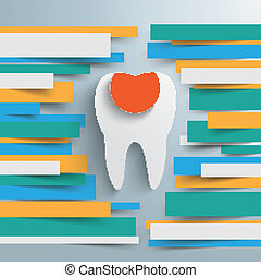 Infographic Brochure Paper Lines Tooth Filling - Colored...