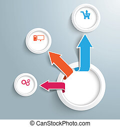 Infographic Circle Arrows Growth 3