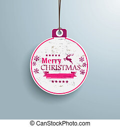 White Christmas Bauble Price Sticker - Infographic with...