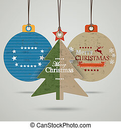 3 Christmas Bauble Price Sticker - Infographic with price...