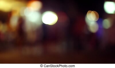 Night marketplace in Koh Samui with blurred background -...
