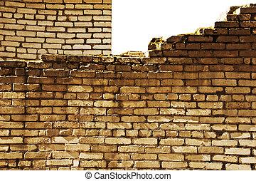 texture of yellow brick wall