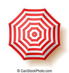 Beach umbrella, top view