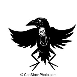 Crow Dancer - a Native American stylized dancer in a crow...