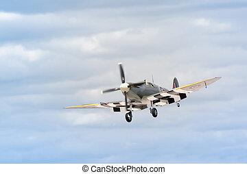WW2 spitfire - historic british WW2 spitfire fighter on...