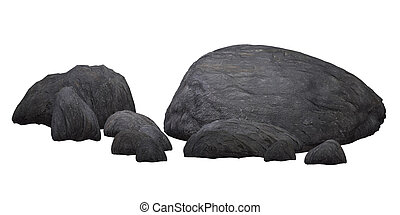 rocks, isolated on the white background