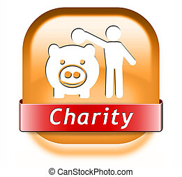 charity button fund raising raise money to help donate give...