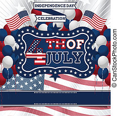 4th of July Design - 4th of July Vector Design template,...