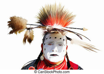 Caddo Dancer - A digital painting of a Caddo Indian dancers...