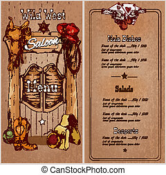 Wild west saloon menu - Wild west saloon restaurant menu...