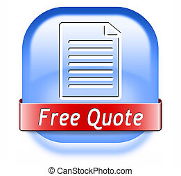 Free quote - Get a free quote button or icon