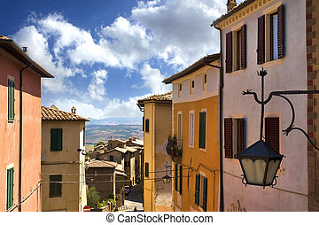 Montalcino - View from the city walls of Montalcino