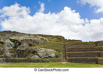 Terraces at Sacsayhuaman - View of terraces at the fortress...