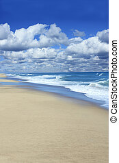 Beautiful Cape Cod beach in Wellfleet,  Massachusetts