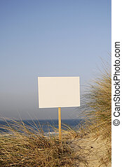 private beach - beach sign ready for rent, holiday, sold,...