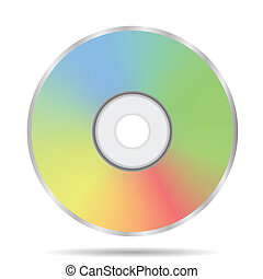compact disc - colorful illustration with compact disc icon...