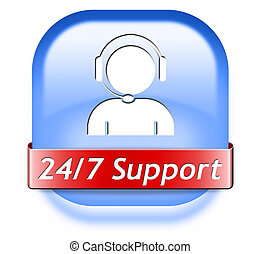 support button - support desk icon or 24/7 help desk button...