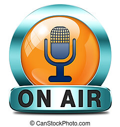 on air - live on air radio live stream broadcasting