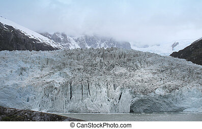 Patagonian landscape with glacier. Argentina. South america....