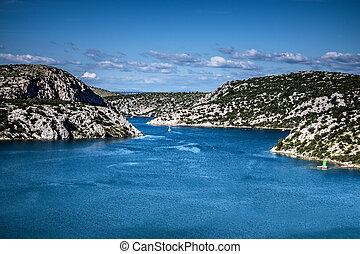 River Krka Estuary - River Krka estuary, Croatia Adriatic...