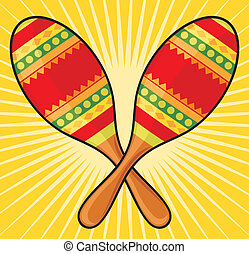maracas instrument - maracas instrument, colorful mexican...