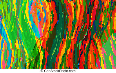 red, yellow; blue; green vector abstract lines