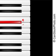 background black-red keys